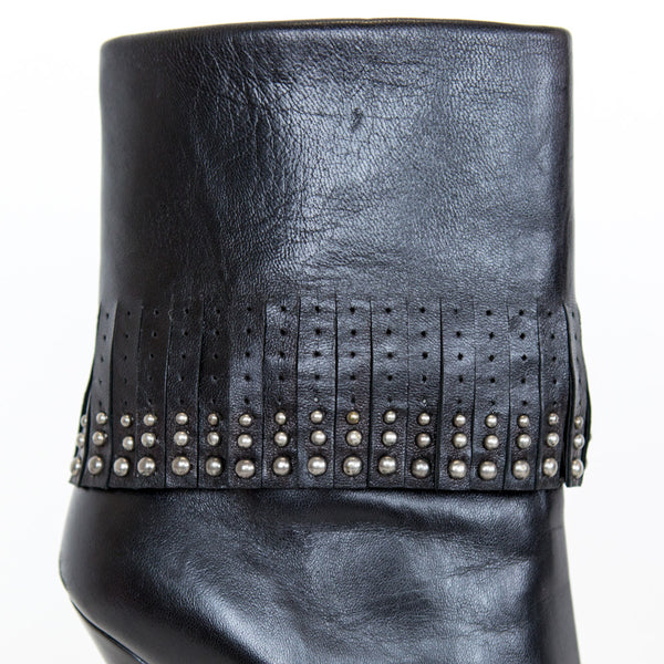 Prada | Leather Fringe Boots