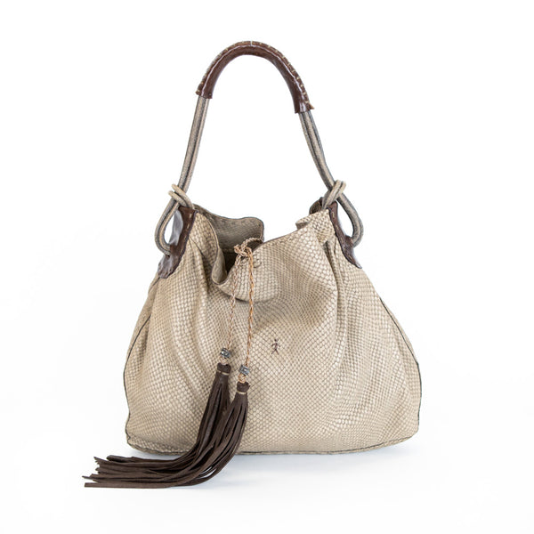 Henry Beguelin | Taupe Leather Tote