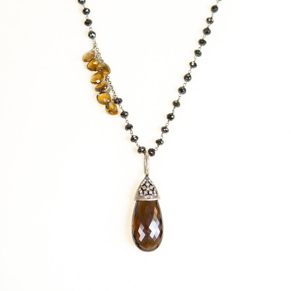 Wendy Brigode | Smokey Quartz Drop Necklace