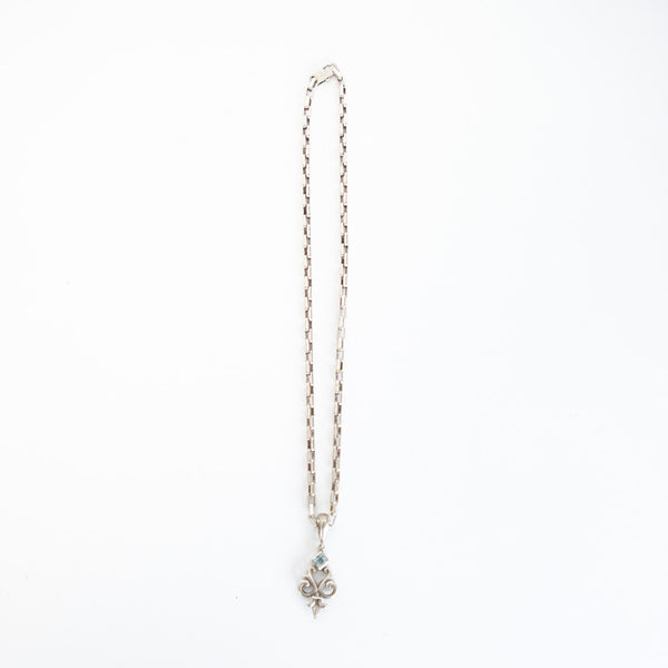 Robin Rotenier | Blue Topaz Pendant Necklace