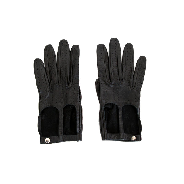 Chanel | Black Leather Gloves