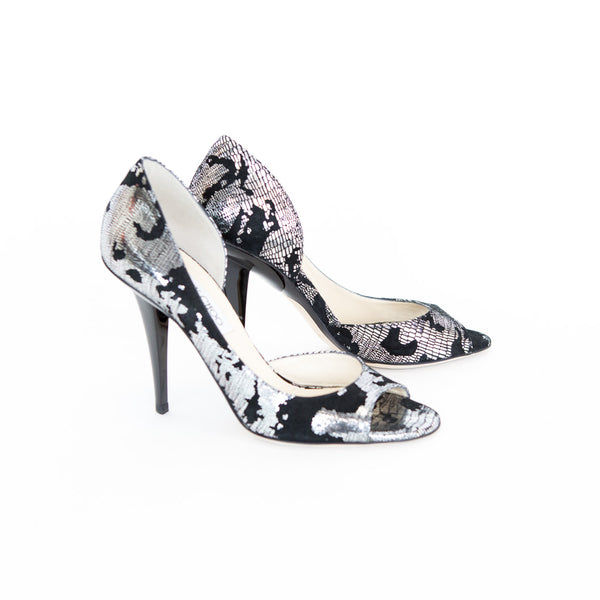 Jimmy Choo | Black and Silver Pumps