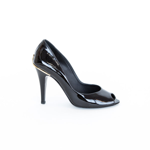 Chanel | Black Patent Leather High Heels
