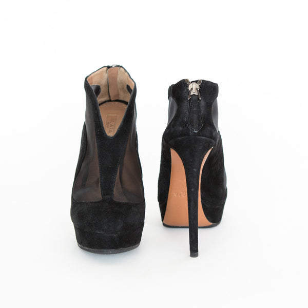 Alaia | Suede And Mesh Booties