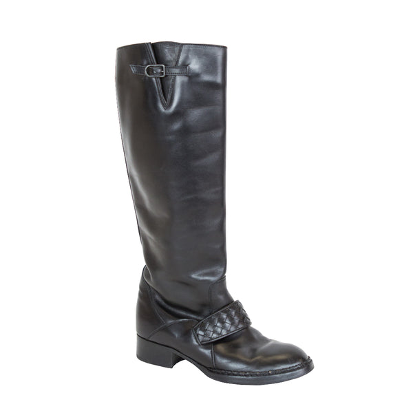 Bottega Veneta | Black Leather Boots