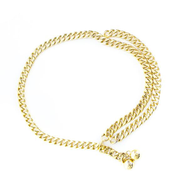 Chanel | Gold Chain Link Belt