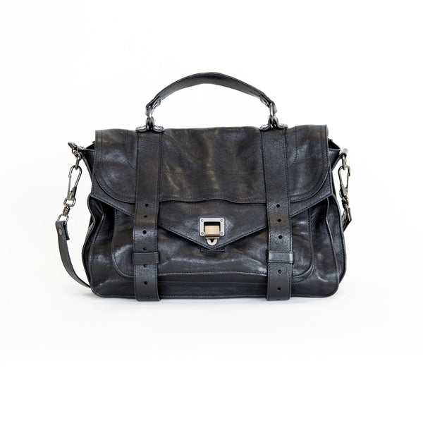 Proenza Schouler | PS1 Black Leather Satchel