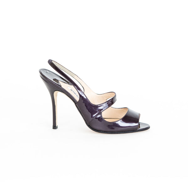 Manolo Blahnik | Plum Patent Leather Heels