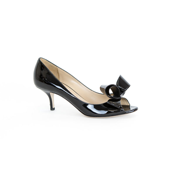 Valentino | Bow Accented Kitten Heels