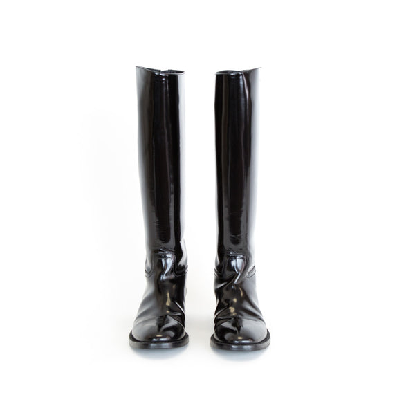 YSL | Knee-High Patent Boots