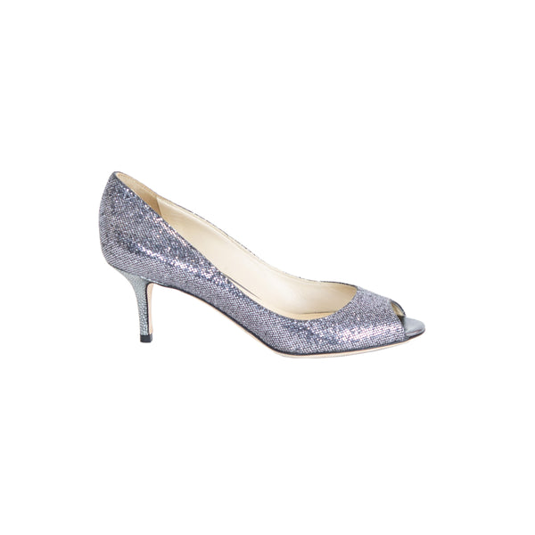 Jimmy Choo | Silver Glitter Pumps