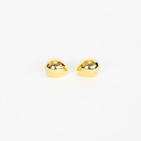 Michael Sugarman | Gold Hollow Scoop Dome Earrings
