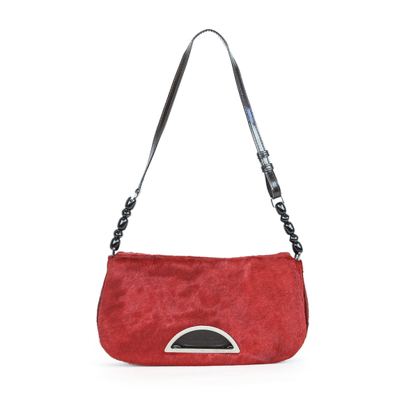 Christian Dior | Red Pony Hair Handbag