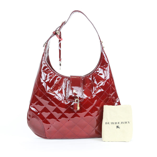 Burberry | Quilted Patent Leather Handbag