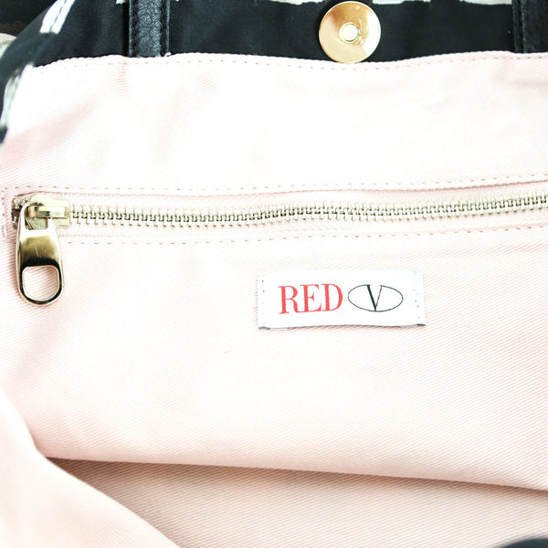 Red Valentino | Nylon Tote Bag with Leather Bow