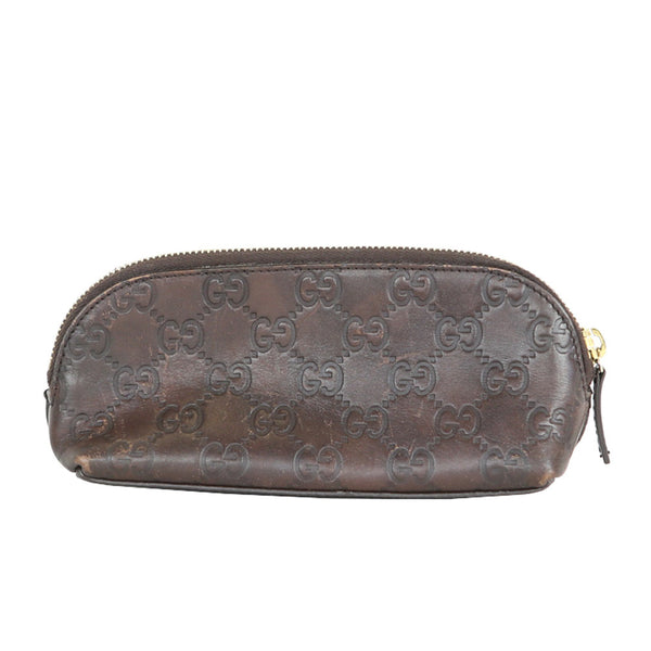 Gucci | Brown Leather Cosmetic Bag