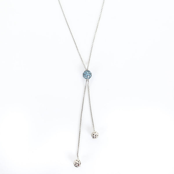 Charles Krypell | Roxy Blue Topaz Silver Necklace