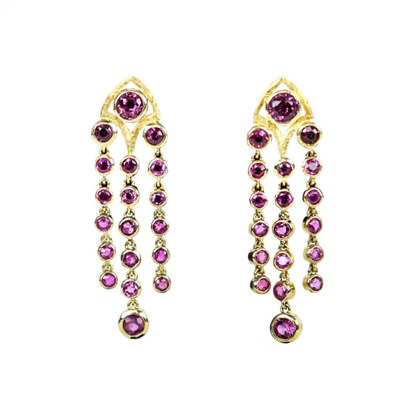 Matthew Trent | Rubies in 18K Gold  Earrings