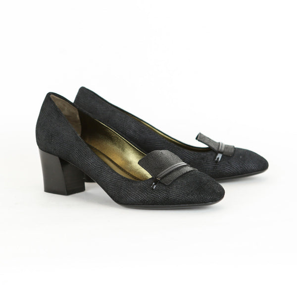 Lanvin | Black Leather Mid Heel Shoes