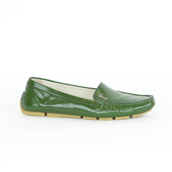 Gucci | Green Patent Leather Loafers
