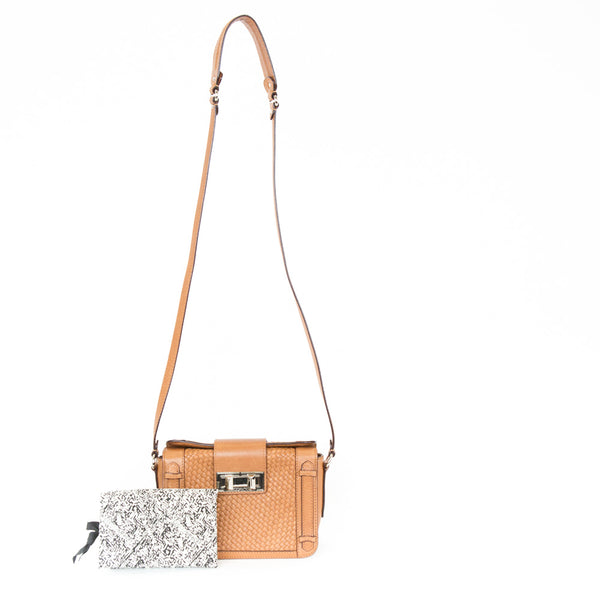 Rebecca Minkoff | Leather Woven Crossbody
