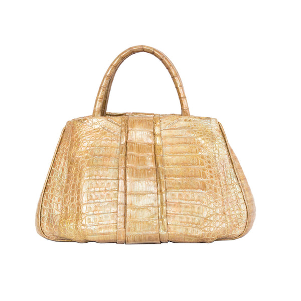 Nancy Gonzalez | Tan Crocodile Handbag