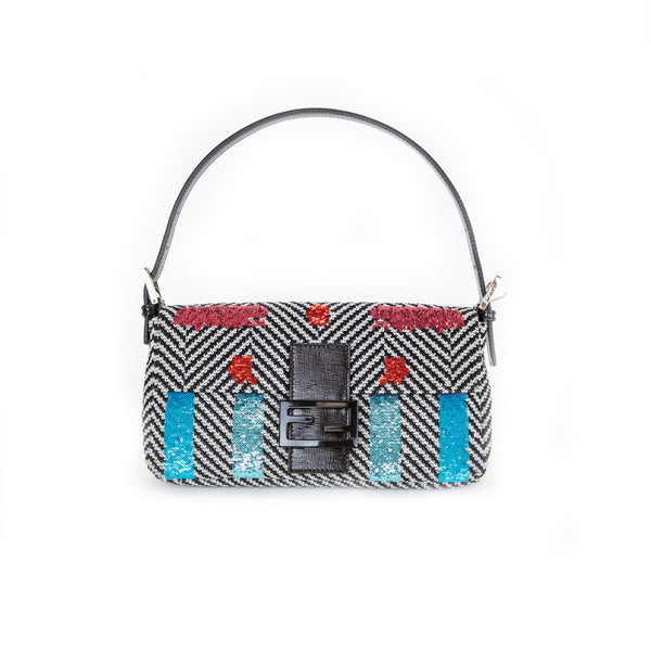 Fendi | Sequin Embroidered Baguette Handbag