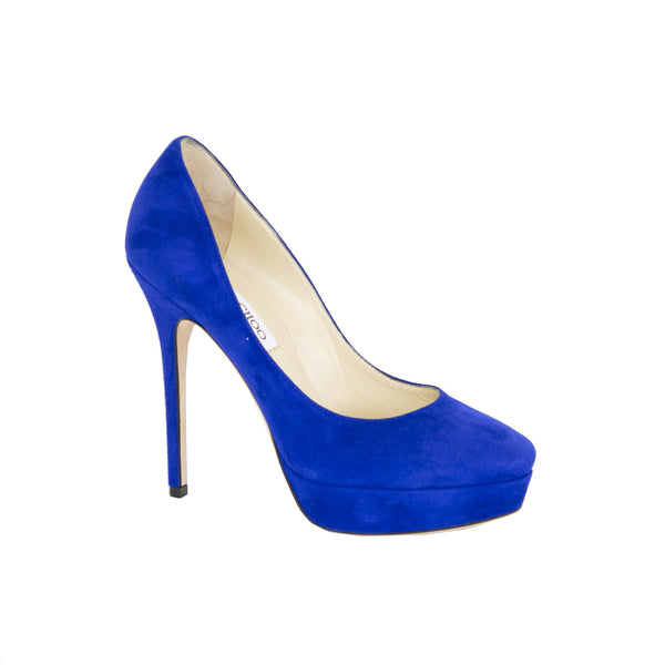 Jimmy Choo | Royal Blue Cosmic Pumps