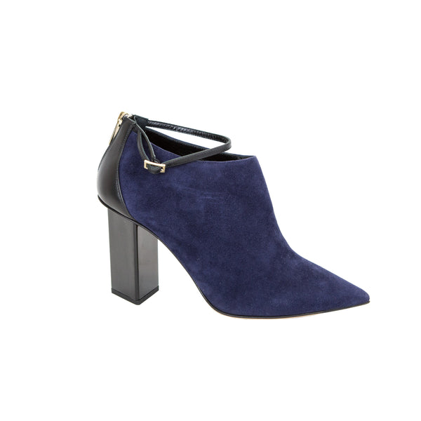Jimmy Choo | Navy Blue Suede Booties