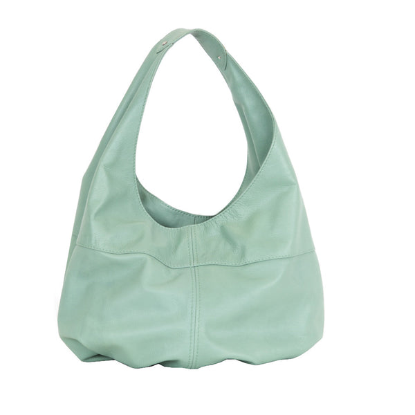 Jimmy Choo | Mint Leather Boho Handbag
