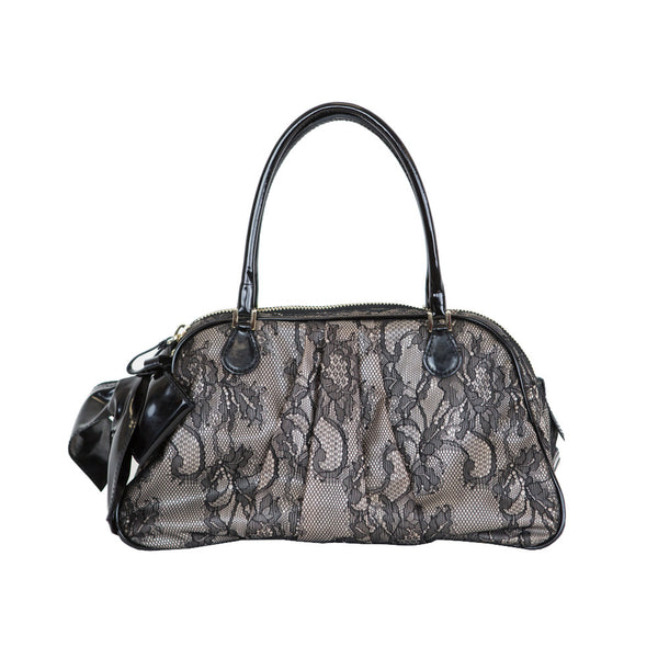 Valentino | Lace Overlay Shoulder Handbag