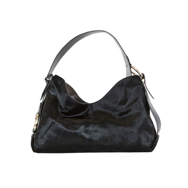 Oscar de la Renta | Black Pony Hair Handbag
