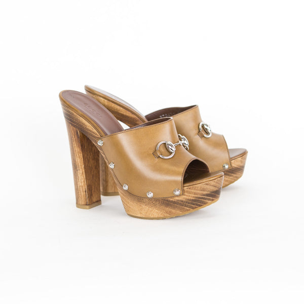 Gucci | Morena Camel Leather Mules