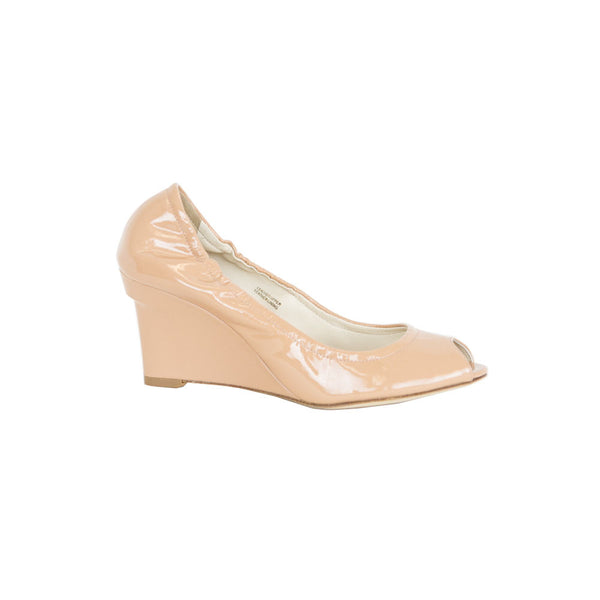Vera Wang | Neutral Patent Leather Wedge
