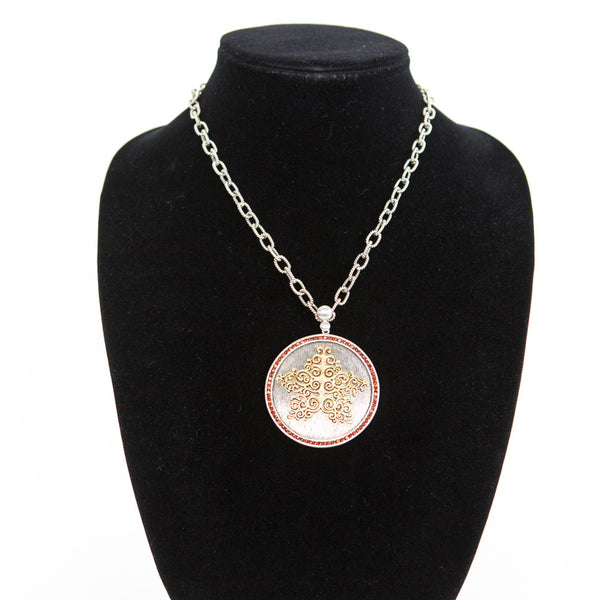 Liz Donahue | Starhaven Etched Silver Disc Necklace