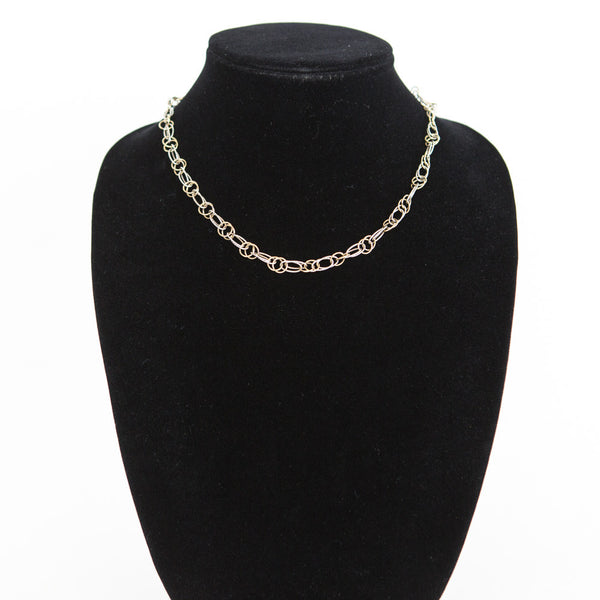 14K White and Yellow Gold Chain Necklace