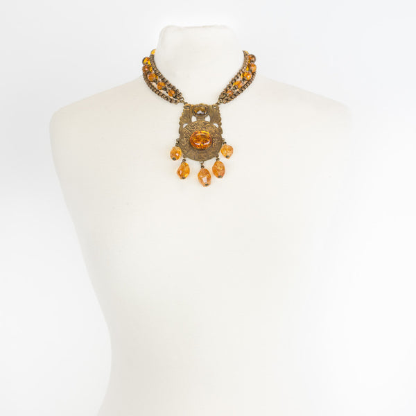 Stephen Dweck | Citrine and Amber Necklace