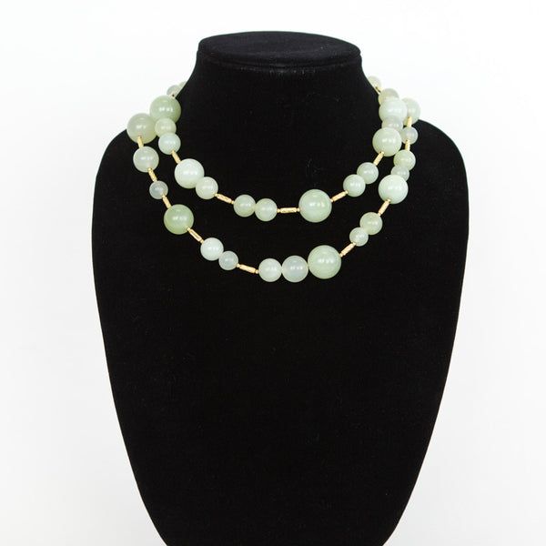 David Yurman | Green Chalcedony 18K Popcorn Necklace