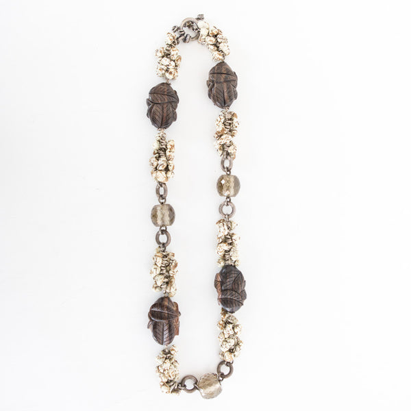 Stephen Dweck | Howlite & Smoky Quartz Necklace