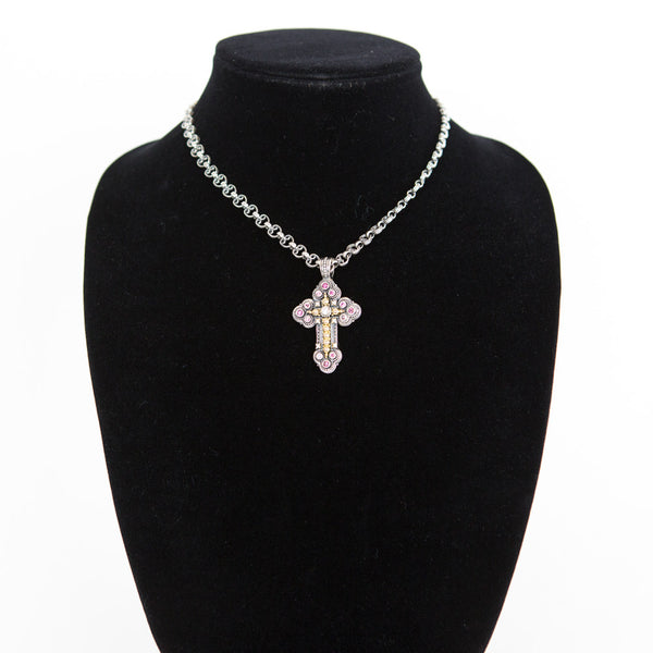 Konstantino | SS 18K Necklace With Cross Pendant