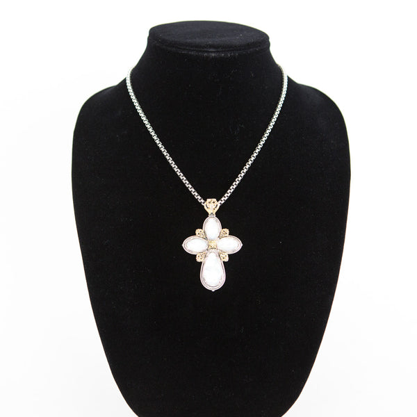 Konstantino | Mother-of-Pearl Cross Necklace