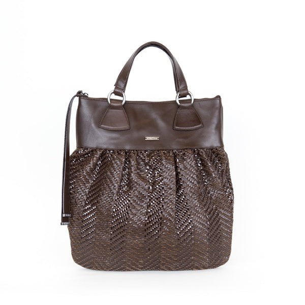 Max Mara | Brown Woven Leather Tote