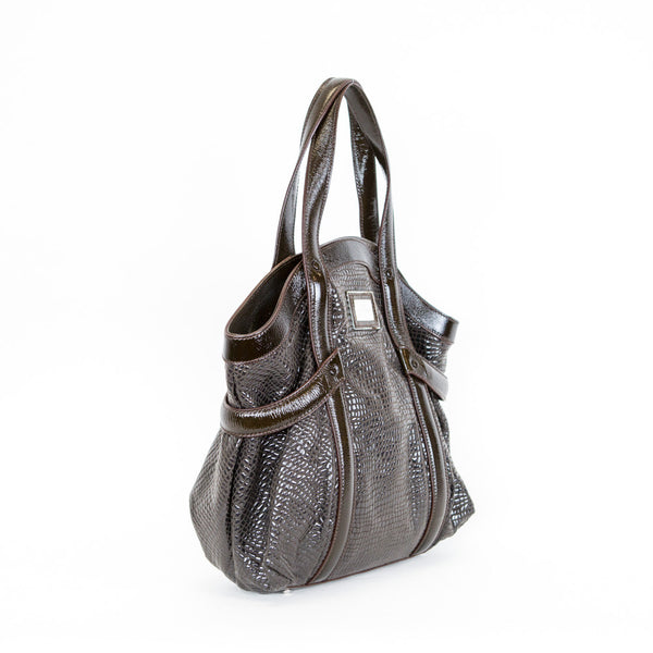 Giorgio Armani | Brown Patent Leather Handbag