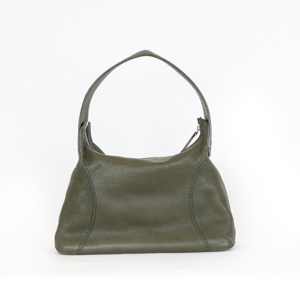 Tod's | Olive Green Leather Shoulder Bag