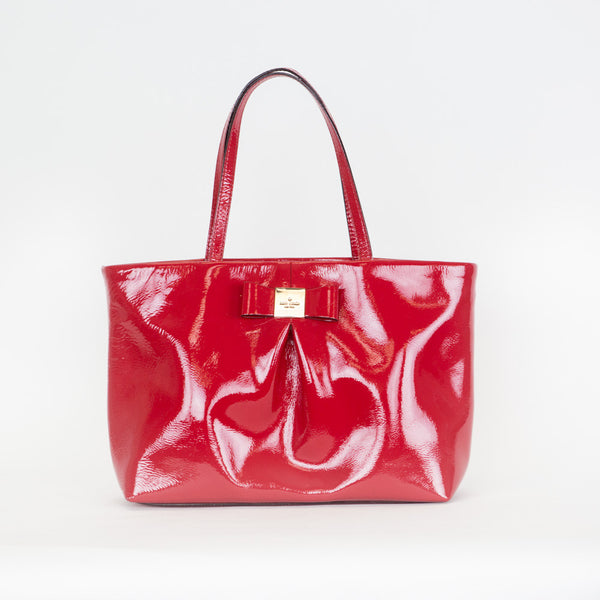 Kate Spade | Red Patent Leather Tote