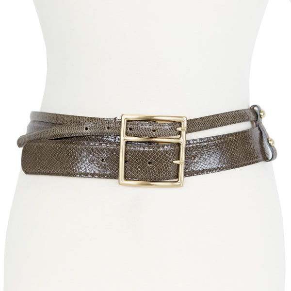 Max Mara | Taupe Leather Belt