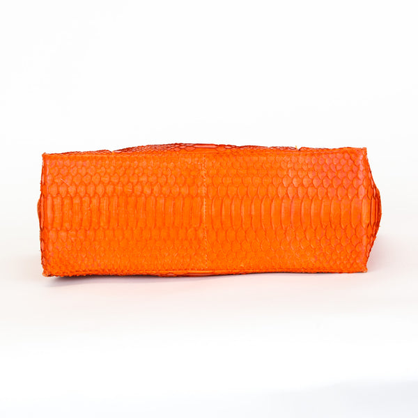 Orange Python Handbag
