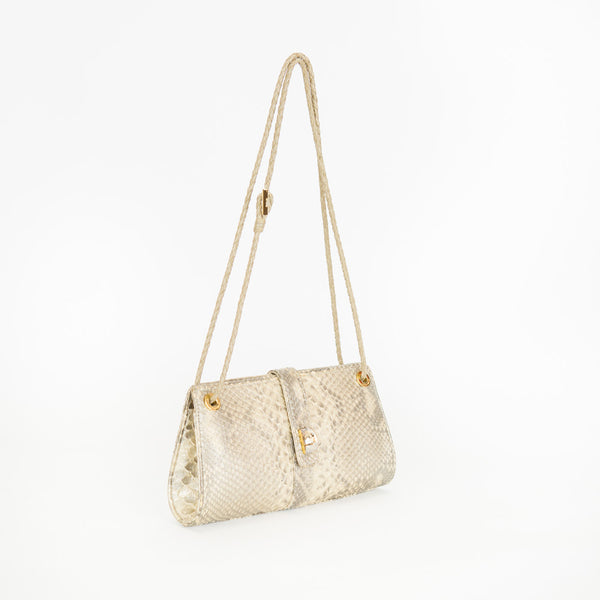 Loro Piana | Gold Python Cocktail Handbag
