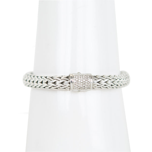 John Hardy | Silver Classic Chain with Diamonds