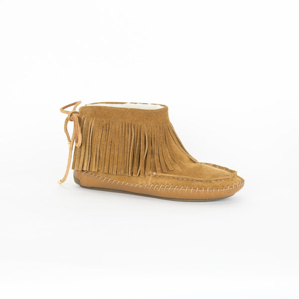 Tory Burch | Collins Fringe Suede Moccasin Booties